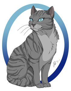 This is Jayfeather, littermate of Lionblaze and Hollyleaf. He is blind, unfortunately. He is one of my faves!