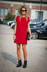 Красное платье Missoni. Уличная мода 2014, Милан