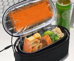 Enjoy a piping hot gourmet meal at the office by packing your chow in the USB heated lunch box. While everyone else crowds around the microwave, you can simply plug in your lunchbox and enjoy a warm home cooked meal anytime you want.