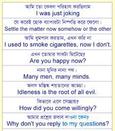 Spoken English with Bengali: Common English Dialogue 11 English Talk, English Grammar Book, English Speaking Practice, English Learning Spoken, English Sentences, English Writing Skills, Spanish Language Learning, English Vocabulary Words, English Phrases