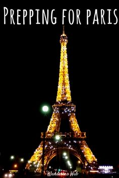 Planning for a trip to Paris!