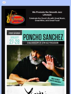 Poncho Sanchez at Yoshi's Jazz Club on January 27-28, 2017.