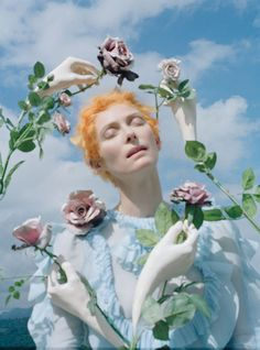 Tilda Swinton in Las Pozas (Mexico) by Tim Walker for W May 2013