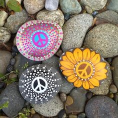 Set of 3 Special Peace Rocks by InnerSasa on Etsy