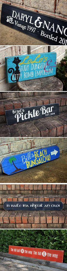 Custom Painted Reclaimed Wood Signs | SignsByAndrea.com