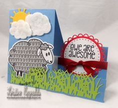 Stamping & Scrapping in California: the stamps of life Goodbye Cards, Sheep Cards, Side Step Card, Stepper Cards, Appreciation Cards, Interactive Cards, Happy Birthday Cards, Creative Cards, Cute Cards