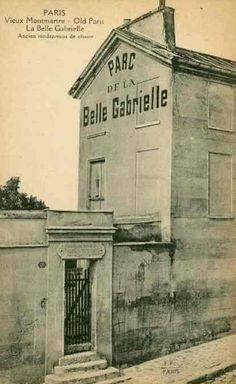 Parc de la belle Gabrielle. 2, rue Cortot. Paris 75018. Installé sur l'ancien jardin du relais de chasse où, selon la légende, Henri IV rejoignait Gabrielle d'Estrées...
