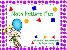 Students will enjoy figuring out patterns through this colorful flipchart made of shapes and numbers. When finished, students will be asked to use their creativity to make their own patterns. Make sure you have Active Software before downloading this product.