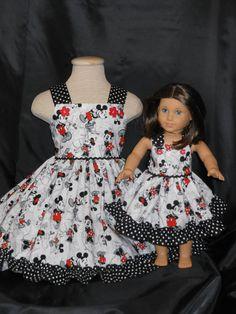 American Girl Dress Vintage Mickey and by MyPrincessandHerDoll
