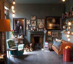 Cool vintage room. Lots of flea market finds.
