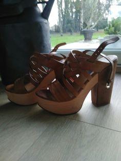 Superbe sandale talon bois Polo Ralph Lauren 39 et demi 61429ece6257