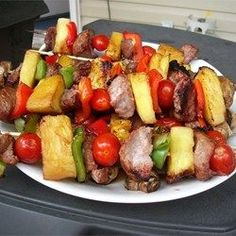 "Sensational Sirloin Kabobs | ""These were amazing. The marinade was awesome, the meat was juicy, tender and delicious. I use Tri-tip instead of sirloin, and my guests loved it. No changes other than the cut of meat. Wonderful."""