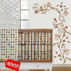 Lindo e delicado adesivo de parede
