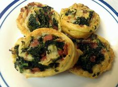 """Spinach-Cheese Swirls! 4.79 stars, 29 reviews. """"Family approved appetizers....with turkey bacon!!!"""" @allthecooks #recipe #appetizer #spinach #easy #vegetarian #quick"""