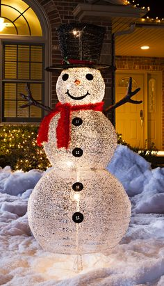 a silver snowman adds shimmer to any outdoor wonderland - Menards Outdoor Christmas Decorations