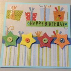 Boy Birthday Card . Thanks Pinterest  for the ideas! ~made by Amy Holman