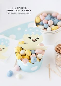 DIY Easter Egg Candy Cups | Get the Tutorial & Printable over at Design Eat Repeat