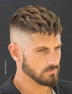 High fade and front combed