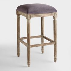 Plum Velvet Paige Backless Barstool - v1