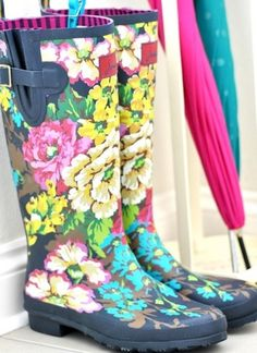 Floral gum boots? Yes please!