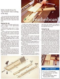 Table Saw Featherboard Jig - Table Saw
