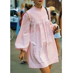 Diane Keaton, Poplin Dress, Fashion Outfits, Womens Fashion, Dress Making, Dress Skirt, Ruffle Blouse, Street Style, Clothes For Women