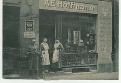 Кёнигсберг. Магазин музыкальных инструментов E.A. Hoffmann Фото ок. 1905 года.