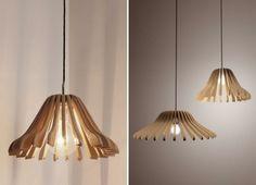 Designer Lampe selber bauen diy  lampe kleiderbügel