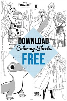 Free Printable Frozen 2 movie coloring pages Disney Coloring Pages Printables, Frozen Coloring Pages, Disney Princess Coloring Pages, Disney Princess Colors, Disney Colors, Cool Coloring Pages, Frozen Activities, Frozen Free, 2 Movie