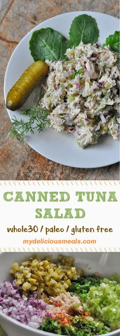 This canned tuna salad recipe is Paleo friendly and approved. I first sa. This canned tuna Healthy Foods To Make, Good Foods To Eat, Healthy Food Choices, Healthy Meals For Kids, Good Healthy Recipes, Healthy Snacks, Tuna Recipes, Paleo Recipes, Ketogenic Recipes