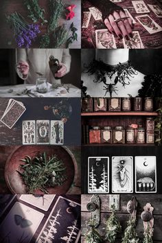 personal aesthetic request: tarot/scorpio/herbalist more here // request here