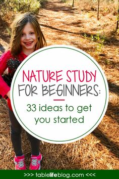 Nature Study for Beginners: 33 Easy Ideas to Help You Get Started Wondering how to incorporate nature study into your homeschool? Today we're talking nature study for beginners so you can get outside and get started. Forest School Activities, Nature Activities, Science Nature, Enrichment Activities, Earth Science, Outdoor Activities, Outdoor Education, Outdoor Learning, Outdoor Classroom