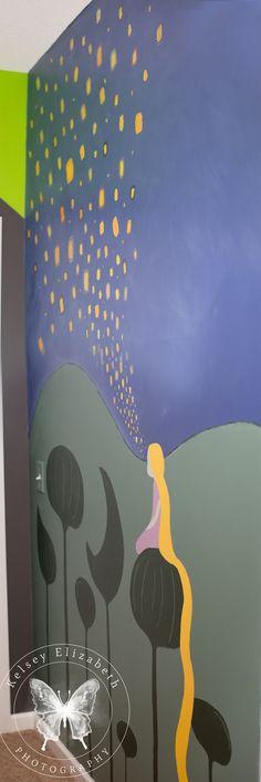 Rapunzel Bedroom; Disney Tangled Bedroom; Rapunzel Mural; Children's Bedroom