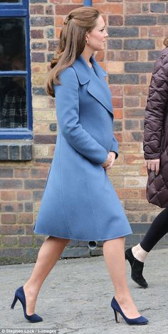 2/18/15 Doing the rounds: The engagement was the first of two today, with the Duchess of Cambridge travelling on to Smethwick after the factory visit