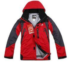 North Face Men's Grey Red/ Gore Tex Jacket