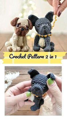 Dog Crochet, Animal Knitting Patterns, Crochet Stitches Patterns, Stuffed Animal Patterns, Crochet Patterns Amigurumi, Cute Crochet, Crochet Animals, Crochet Dolls, Crochet Dragon