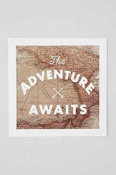 Zach Terrell Adventure Awaits Art Print