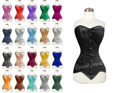 Heavy Duty Double Steel Boned Over Bust Waist Trainer Satin Corset 8151-LS-BM For Perfect Hourglass Figure, and will reduce waist up to 5 inches. The corset can draw in your waist and flatten your tummy. It can be used for Tight Lacing, Shaping and Waist Training. Waist Trainer Before And After, Corset, Satin Underwear, Best Fat Burning Workout, Lace Tights, Hourglass Figure, Satin Material, Waist Training, Bustier