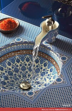 Moroccan sink - I want this is my life so badly!!