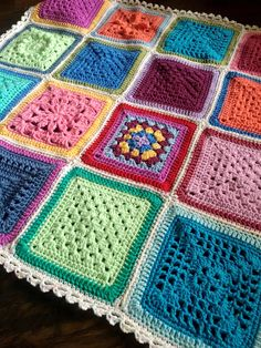 I've been thoroughly enjoying whipping up these little minis out of extra VVCAL squares! Here is all the pattern info :)  Squares: Vibrant Vintage Blanket CAL Join: SC continuous join Bo…