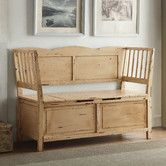 Found it at Wayfair - Colonial Wood Storage Entryway Bench