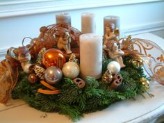 Christmas wreath - Couronne de l'Avent / Advent Kranz