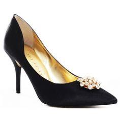 SALE - Womens Martinez Valero April Stiletto Heels Black Fabric - Was $159.99 - SAVE $16.00. BUY Now - ONLY $143.99.