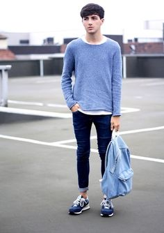 BLUE (by Jordan Henrion) http://lookbook.nu/look/3955236-BLUE