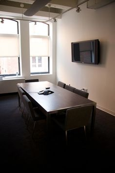 sleek and functional conference room