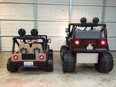 Lifted power wheels jeep