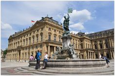 """WUERZBURG (GERMANY): The city experienced its most prosperous period during the rule of the art-loving prince-bishops of the Schönborn family, for whom Balthasar Neumann built the """"palace of palaces,"""" the Würzburg Residence, from 1719 to 1744."""