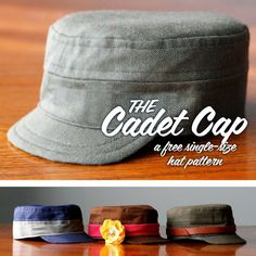 Boys Cap sewing pattern For the wintertime outings or for dress up games, the little boys cadet caps are a wonderful solution. Rush over to Crafts Buds to download the free sewing pattern and tutorial