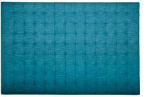 Sänggavel med pikering, blågrönt tyg