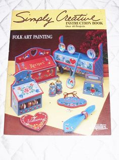 VINTAGE FOLK ART Painting Book Simply Creative by JunqueInMyTrunks
